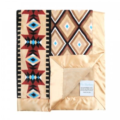 aztec-honey-minky-blanket-w-latte-minky-back-_-flat-satin-border-main-image_1