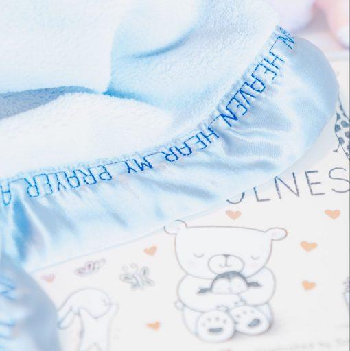 book close up blue plush