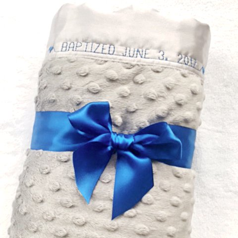 minky dot story baby blanket